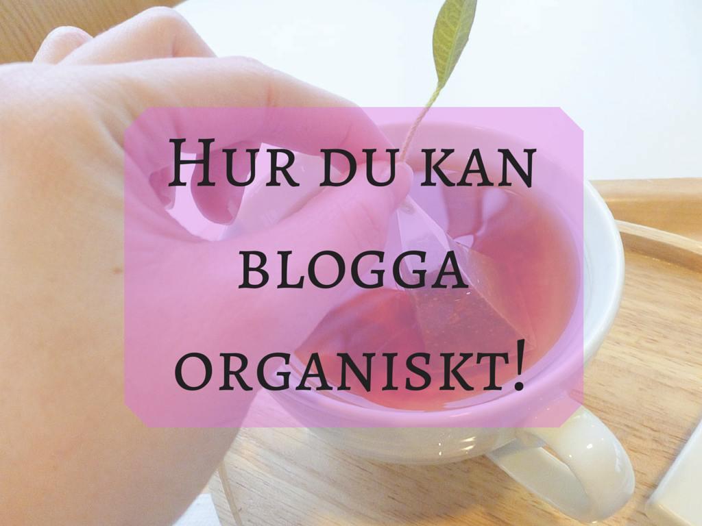 Hur du kan blogga organiskt!