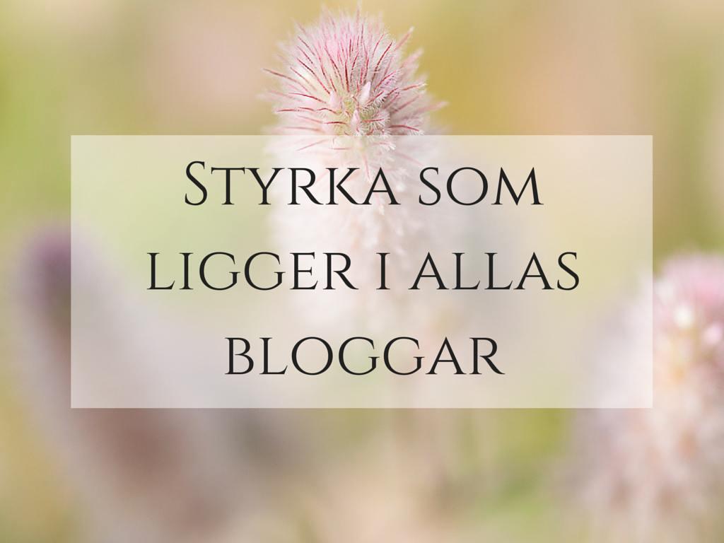Styrka som ligger i allas bloggar bloggstyrka