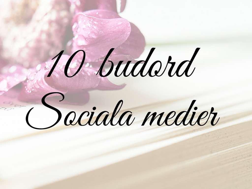 10 budord sociala media