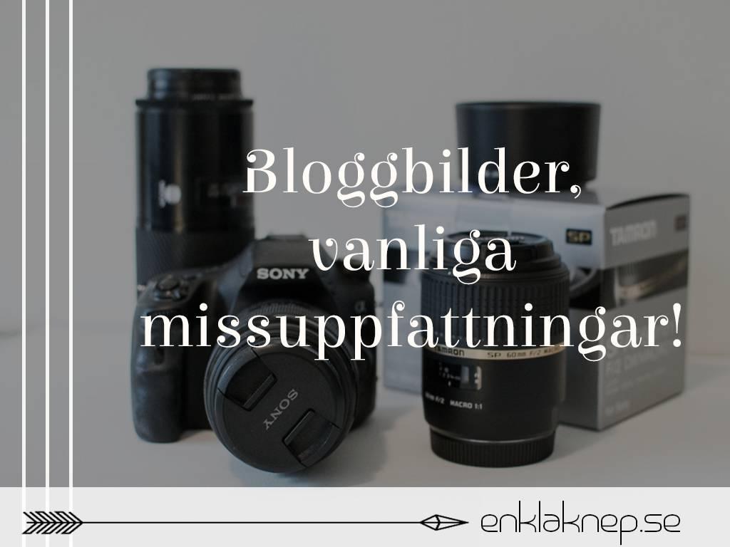 Bloggbilder, vanliga missuppfattningar
