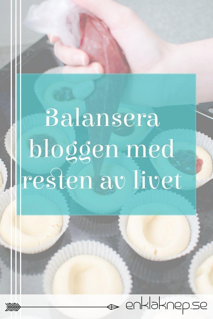 Balansera bloggen med resten av livet pin