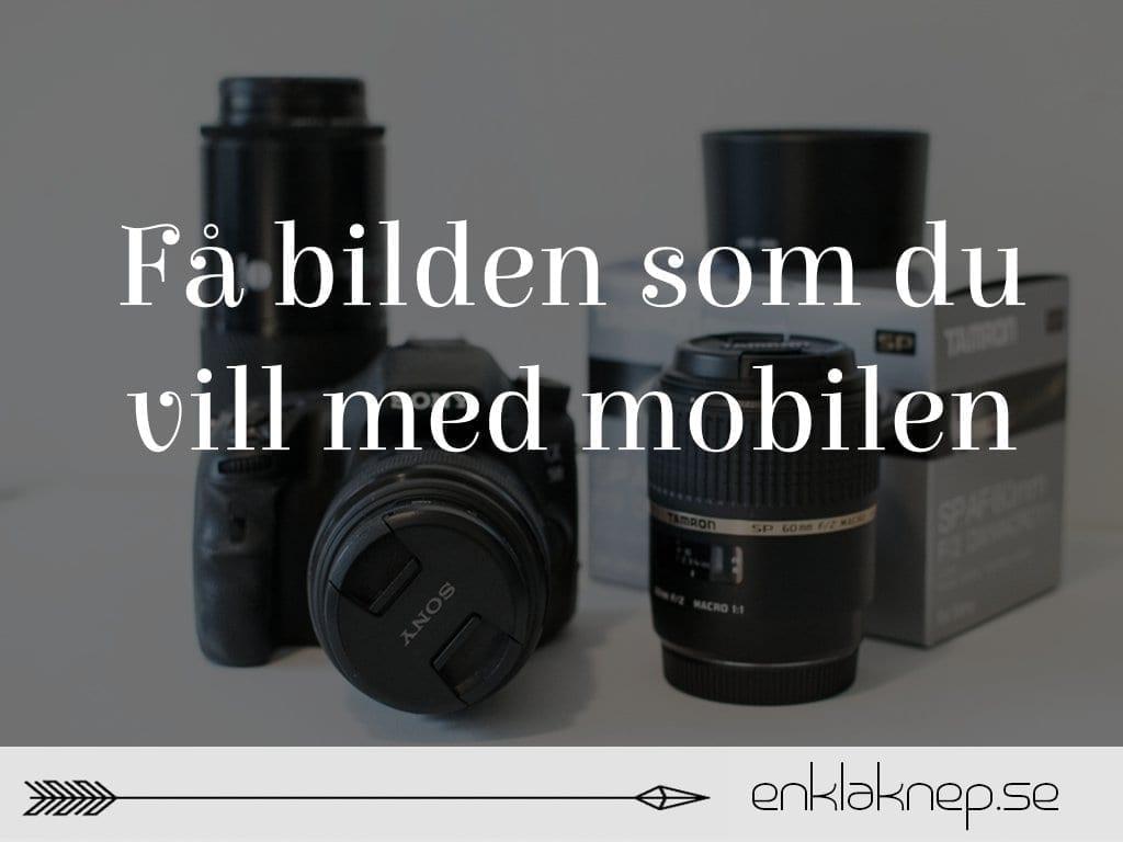 fotografera med mobilen
