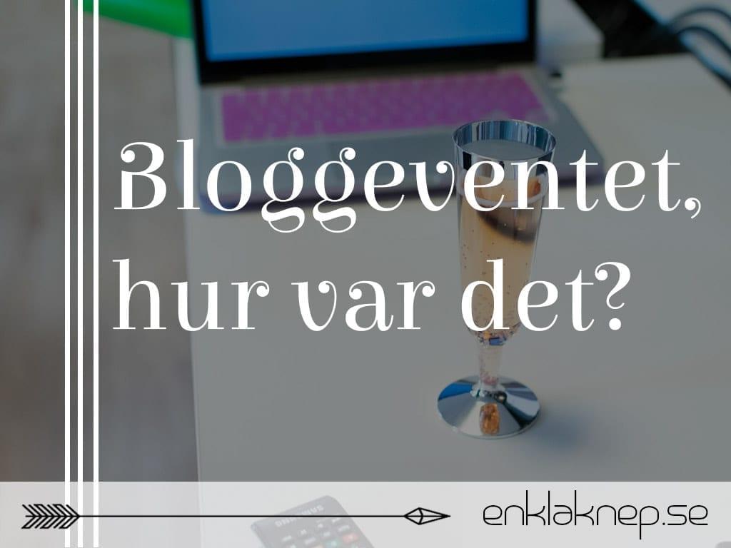 bloggeventet hur var det?