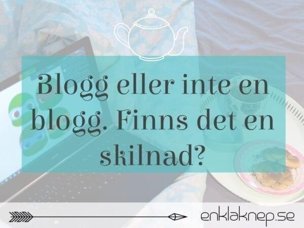 blogg eller inte en blogg