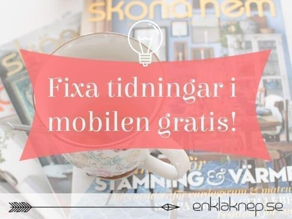 Tidningar i mobilen gratis