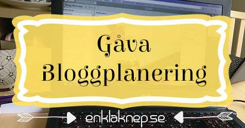 FB - Bloggplanering