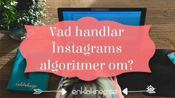Vad handlar Instagrams algoritmer om