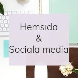 Knapp Hemsida och sociala media